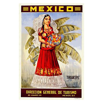 Tehuantepac - Vintage Mexico Travel Poster Design by Chunga