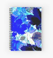 Blue Leaves Spiral Notebook