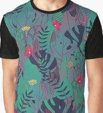 Jungle and leaf patterns Graphic T-Shirt