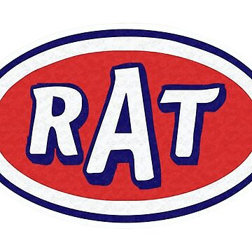 vintage logo RAT icon by thatstickerguy