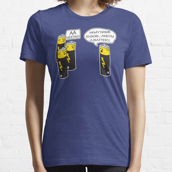 Aa Battery Meeting Funy T-Shirt Tee Essential T-Shirt