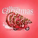A merry vespa Christmas by DigitalCloud