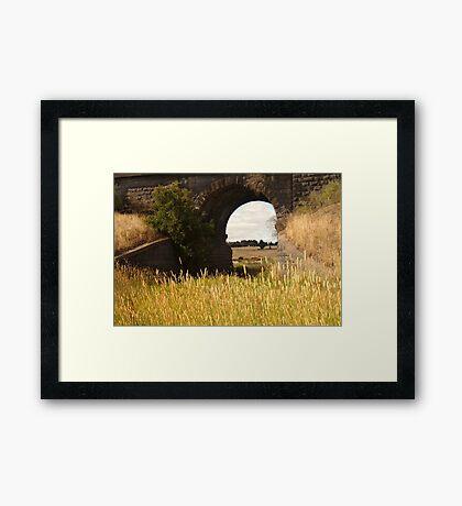 Railway Bridge,Geelong Outskirts Framed Print