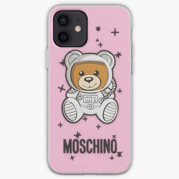 pink moschino iPhone Soft Case