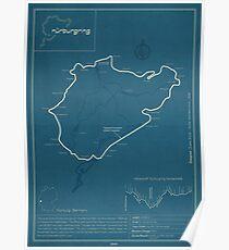Nürburgring Nordschleife Track Map Poster