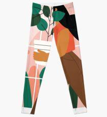 Belle fille avec plante en pot Leggings