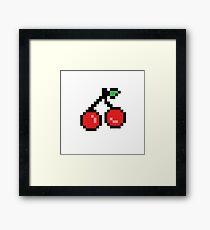 8 Bit Cherry Framed Print