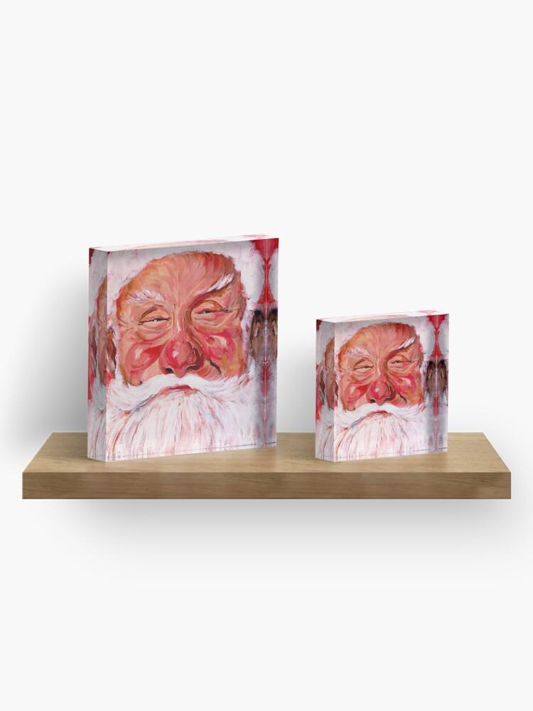 Alternate view of Santa Claus Acrylic Block