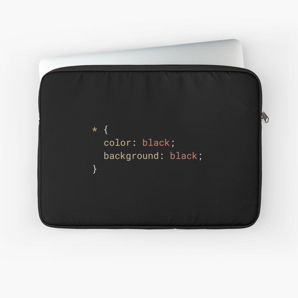 CSS - Everything Black Laptop Sleeve