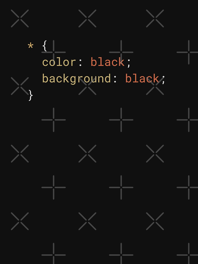 CSS - Everything Black by developer-gifts