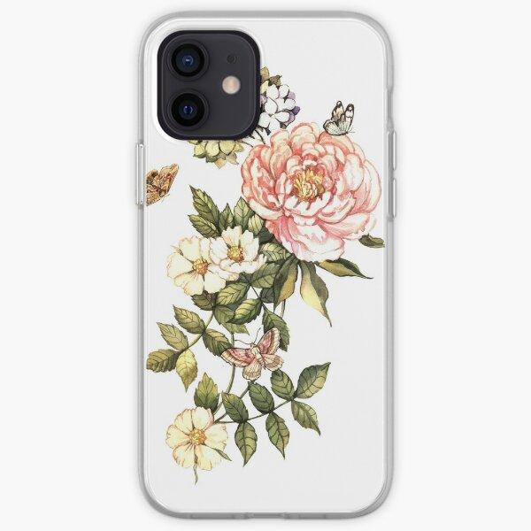 Watercolor vintage floral motifs iPhone Soft Case