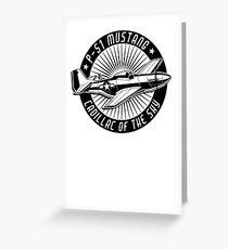 P-51 Mustang Cadillac of the Sky Greeting Card