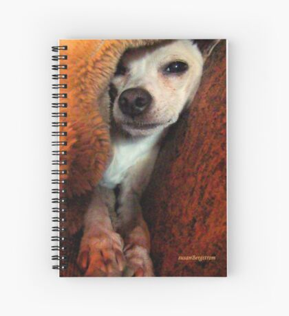 Lil' Bit And His Blankie #3...Just Trying To Be A Happy Guy Spiral Notebook