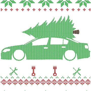 Passat B6 Sedan Sedan Christmas Ugly Sweater XMAS by glstkrrn
