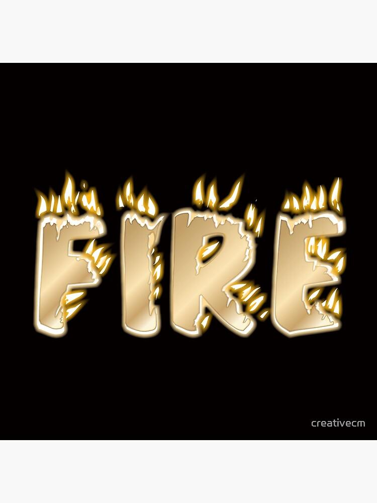 Feuer-Schriftzug von creativecm