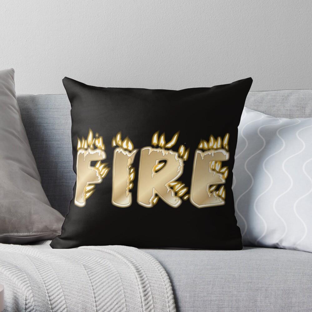 Feuer-Schriftzug Dekokissen