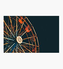 ferris wheel at night, a family tradition! Photographic Print