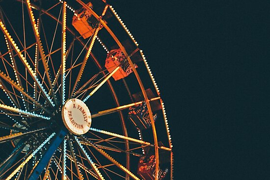ferris wheel at night, a family tradition! by Rachel Kelso