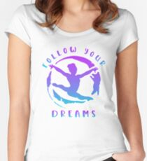 Gymnast Follow Your Dreams Women's Fitted Scoop T-Shirt