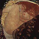 Jugendstil Portrait of a Sleeping Woman by edsimoneit