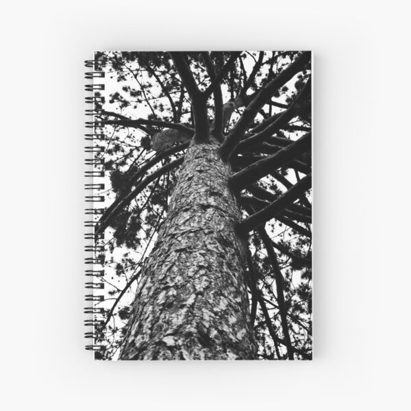 Monochrome Tree Spiral Notebook