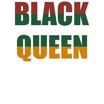 Black Queen Black History Month Black Pride Gift by BlueBerry-Pengu