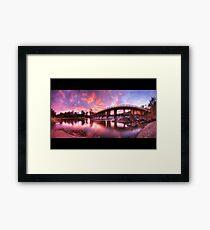 Mt Crosby Weir Sunset Panorama Framed Print