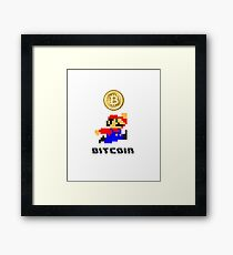 Bitcoin , 8bit Framed Print