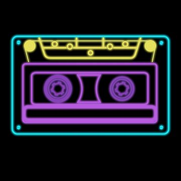 Cassette Retro Neon Sign Vintage 80s and 90s by majuga