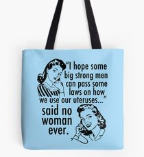 Pro Choice Vintage Humor Cartoon Tote Bag