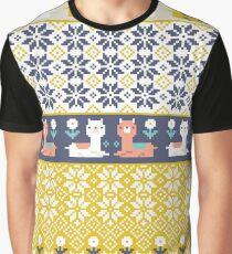 Alpaca Christmas Sweater Pattern  Graphic T-Shirt