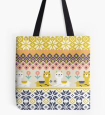 Alpaca Christmas Sweater Pattern  Tote Bag