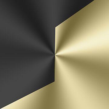 Black and gold geometric metallic design by artonwear