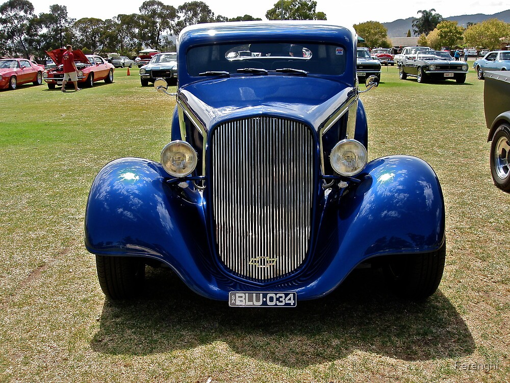 1934 Blue Chevrolet Standard Hot Rod by Ferenghi