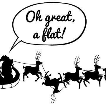 Santa gets a flat by heroics