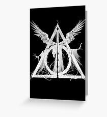 Deadly Hallows Greeting Card