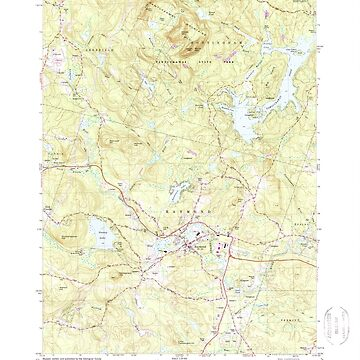 USGS TOPO Map New Hampshire NH Mt Pawtuckaway 329693 1981 24000 by wetdryvac