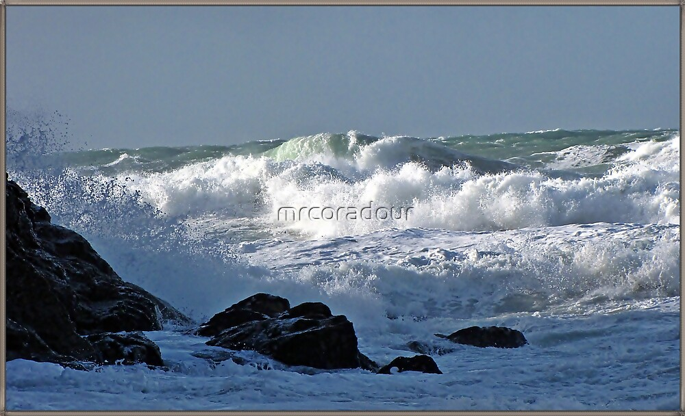 """ Rough Sea's at Chapel Porth"" by Malcolm Chant"