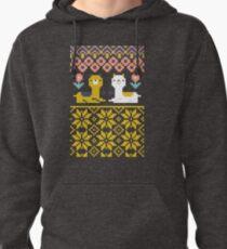 Alpaca Christmas Sweater Pattern  Pullover Hoodie