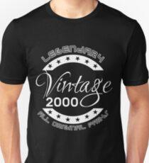 Legendary Vintage 2000 All Original Parts Unisex T-Shirt