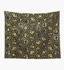 Time Lord Alphabet (black) Wall Tapestry
