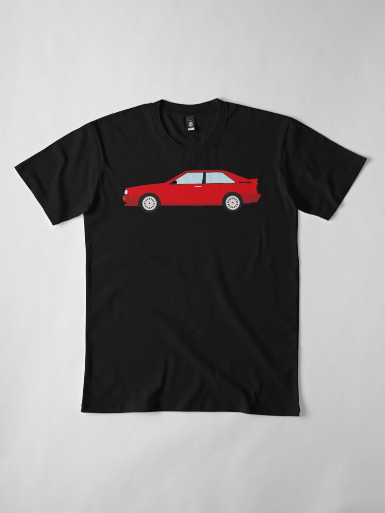 Alternate view of The DriveTribe Audi Quattro design Premium T-Shirt