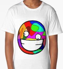 crazy face vegan cat Long T-Shirt