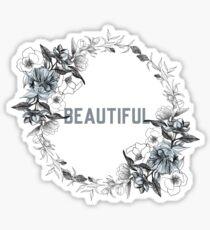 Beautiful - Flower Wreath Sticker