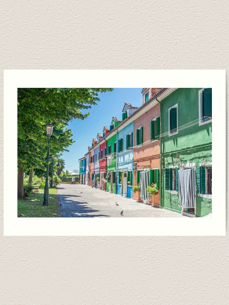 Alternate view of Burano colorful houses Art Print