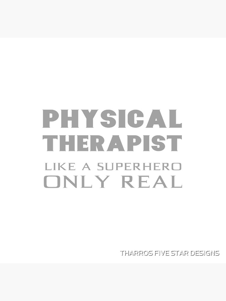 Physical Therapist Superhero Physiotherapist Gifts by kalamiotis13