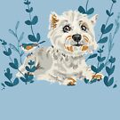 West Highland Terrier & Bird Friend by Elli Maanpää