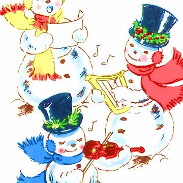 Snowmen carolling by Geekimpact