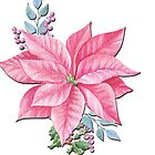 Womens Christmas Magical Winter Flowers by Epic Splash Creations