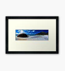 Little Beach Panorama Framed Print